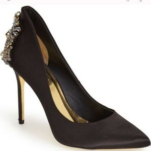 Ted Baker Satin Heels with diamonds